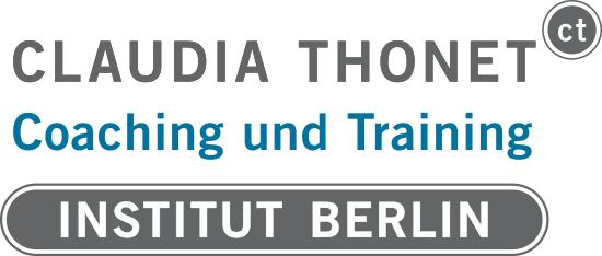 Claudia Thonet, Coaching und Training, Institut Berlin, Logo, Ausbildung zum agilen Vertriebscoach, Salescoach, Servicecoach