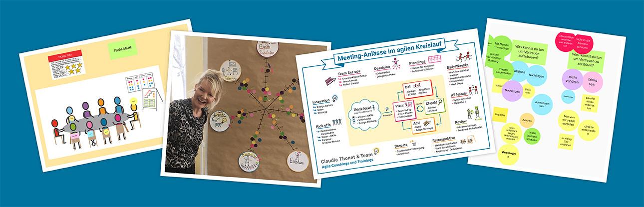 Agile Meetings online moderieren, Claudia Thonet & Team