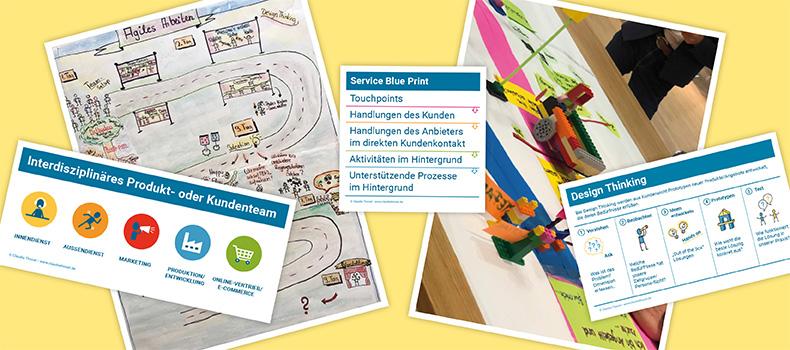 Service Design Thinking, Claudia Thonet, Collage, Blog-Artikel