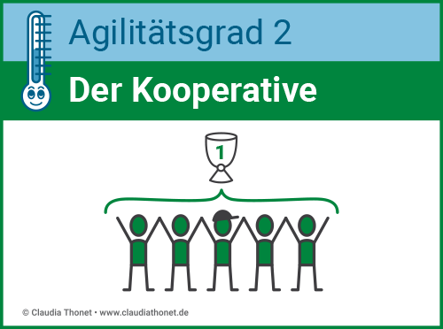 Agilitätsgrad 2, Führungstyp: Der Kooperative